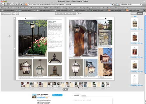 Screenshot of our virtual catalog