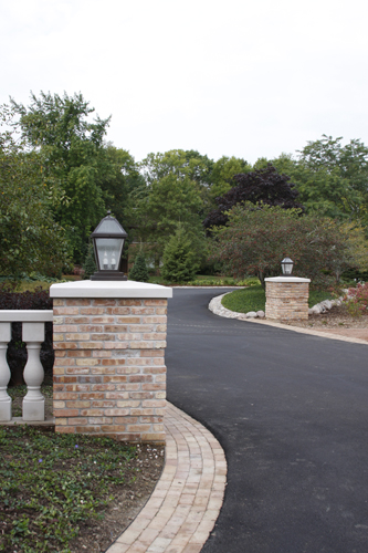 Driveway Pillar Lights : Driveway column lights brass light gallery s