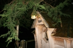 European Country Lantern lights an English Tree House