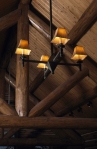 Four light Rustic Chandelier