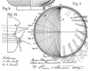 Patent Drawing of Holophane Glass