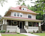 Exterior of an American Foursquare