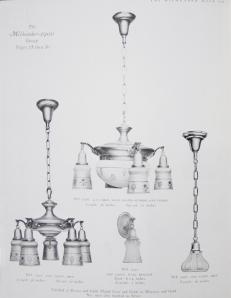 Milhender Electric Light Fixtures, Circa 1915