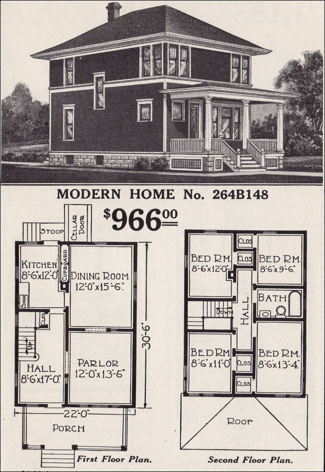 An american foursquare story brass light gallery 39 s blog for House plans 1900