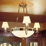 Three-light Alabaster Chandelier