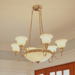 Six-Light Alabaster Chandelier